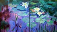 Waterlilies - A Harmony in Blue and Green